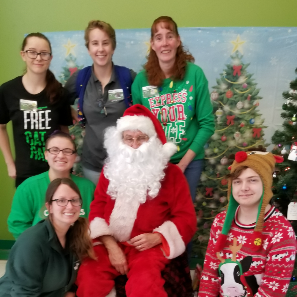 Santa and Helpers